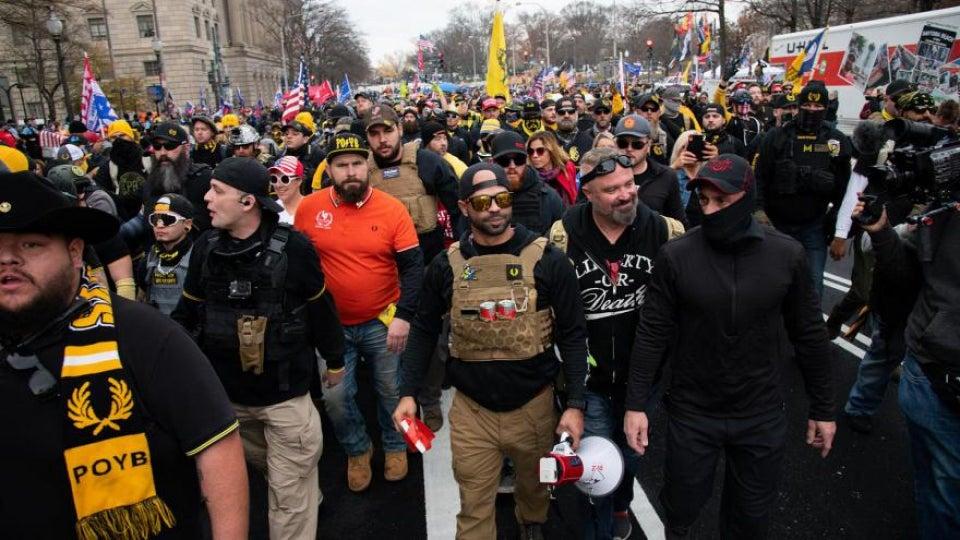 Proud Boys Leader Arrested After Allegedly Burning Black Lives Matter Banner