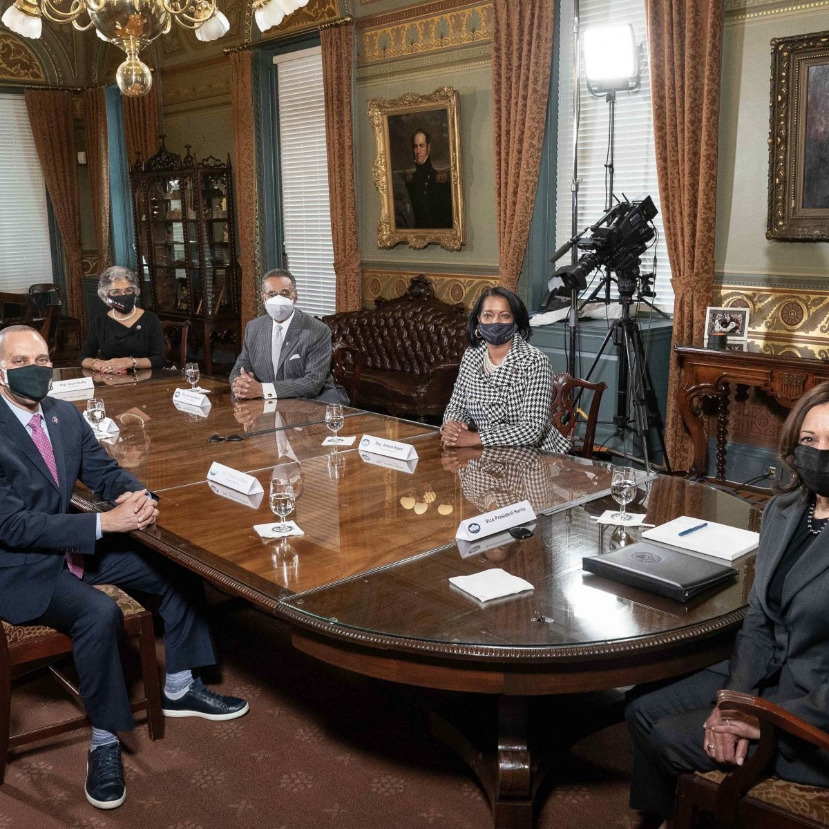 A Historic Meeting: Vice President Kamala Harris Welcomes Congressional Black Caucus to the White House