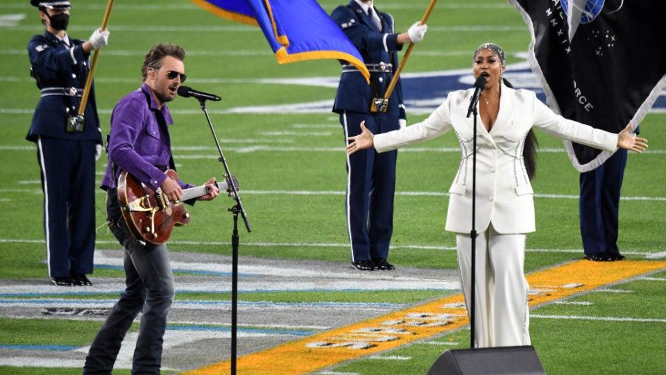 Jazmine Sullivan Scores With Soulful Super Bowl  National Anthem