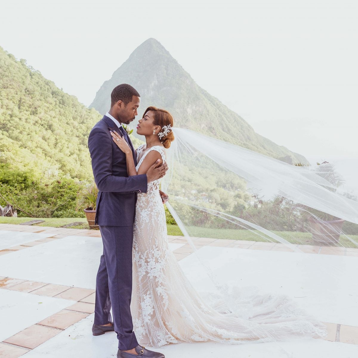 Bridal Bliss: Brittany and Oliver's Sweet St. Lucia Wedding Was Unforgettable