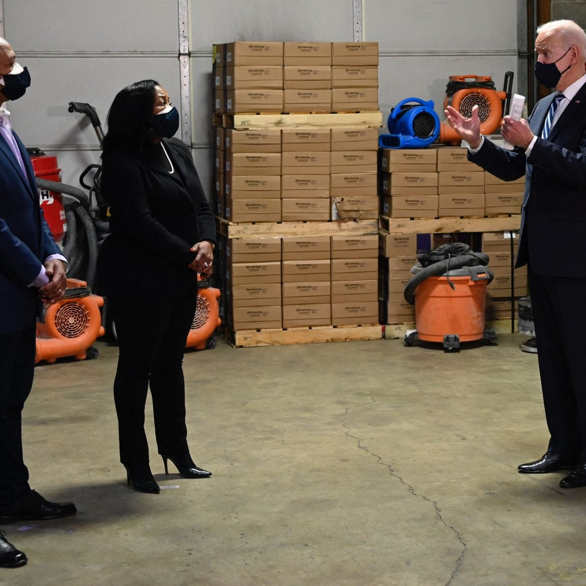 President Joe Biden Visits Black-Owned Business for 'Help Is Here' Tour
