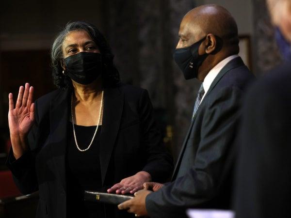 Sonceria 'Ann' Berry Sworn In as 35th Secretary Of The Senate