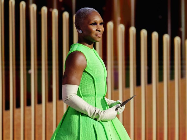 The Internet Loved Cynthia Erivo's 2021 Golden Globes Look