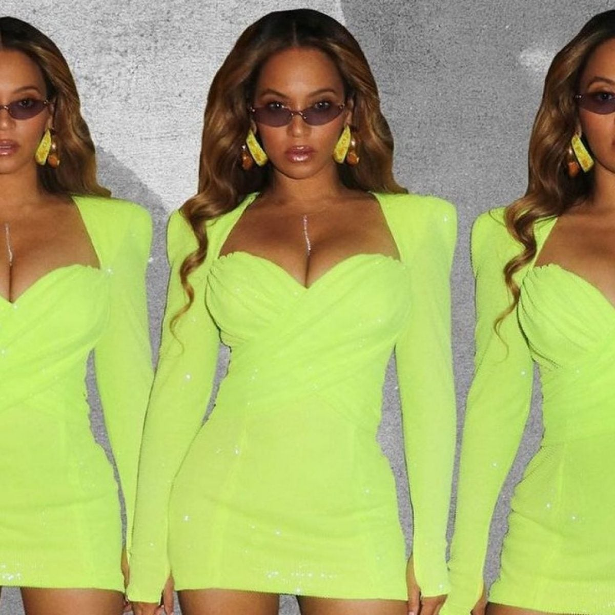 Beyoncé Sizzles In Lime Green Mini Dress In Latest Instagram Post