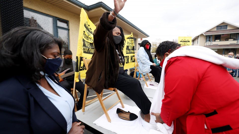 Easter Ritual: Poor People's Campaign Washes the Feet of Folks Struggling Economically
