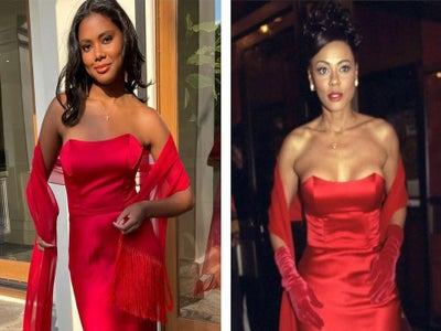 Lela Rochon's Daughter Asia Wore Her Mom's Dress to Prom and We're Obsessed