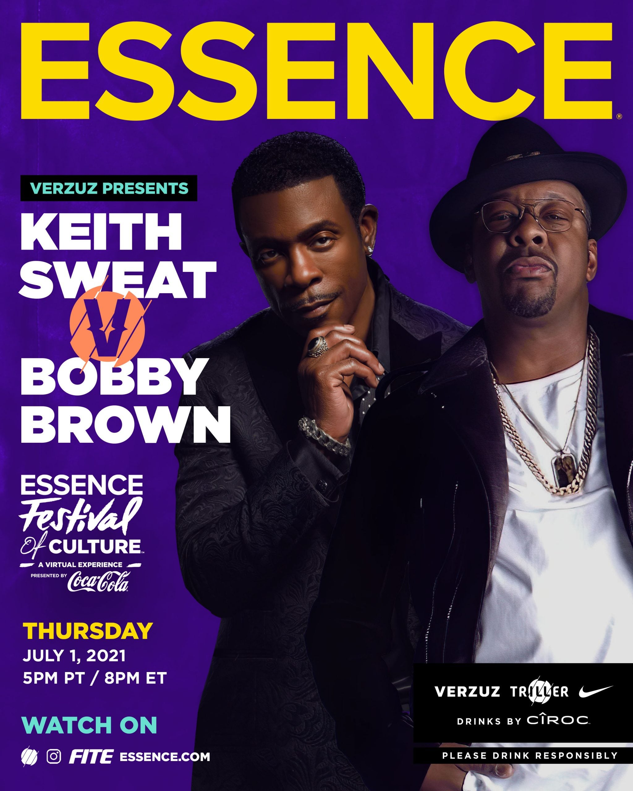 Bobby Brown and Keith Sweat