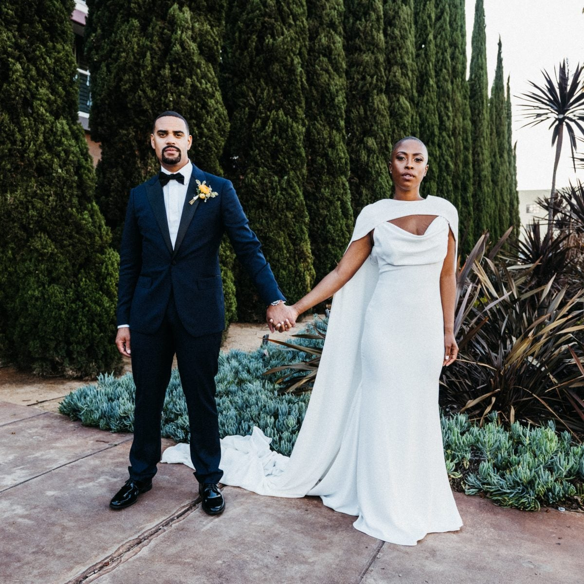 Bridal Bliss: Chelsea And Emerson's SoCal Ceremony Had Palm Trees, Ocean Views And 12 Guests
