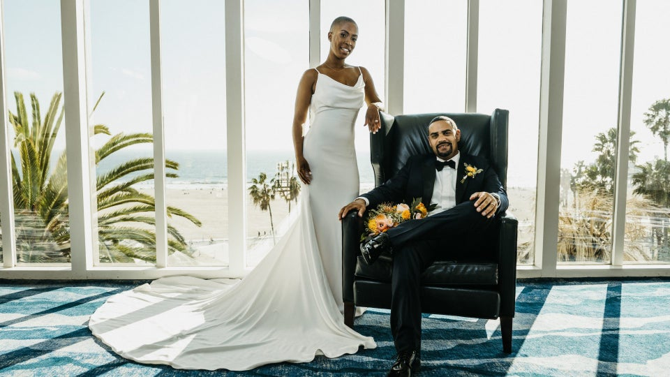 Bridal Bliss: Hello Palm Trees and Ocean Views — See Chelsea And Emerson's Intimate SoCal Wedding