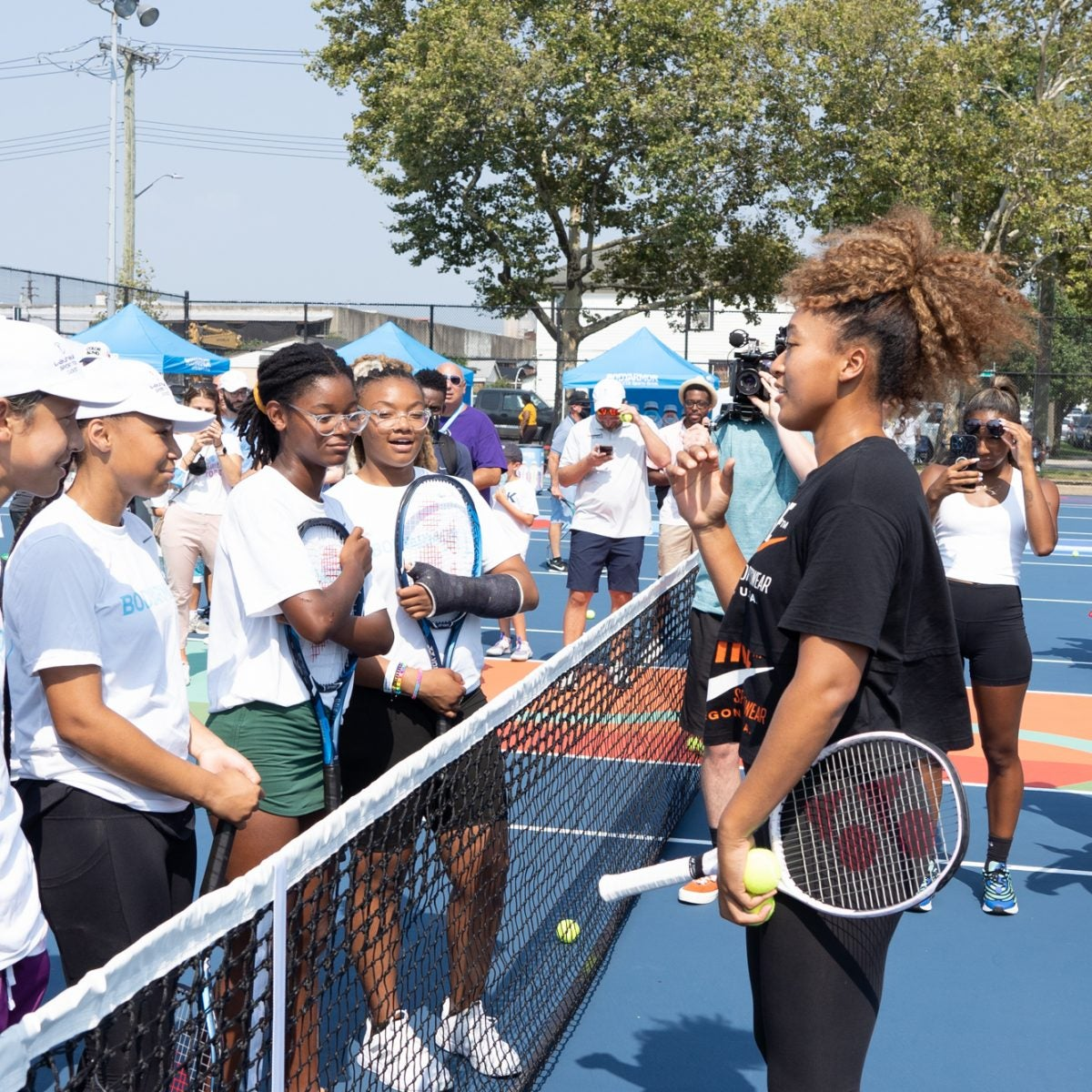 Naomi Osaka Returns To Childhood Courts To Play With The Next Generation Of Tennis Stars
