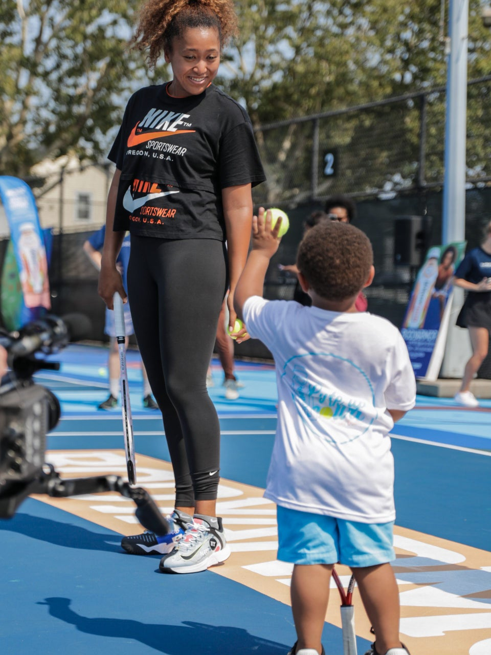 Naomi Osaka Returns To Restored Courts Where She Got Her Start To Play With Next Generation Of Tennis Stars