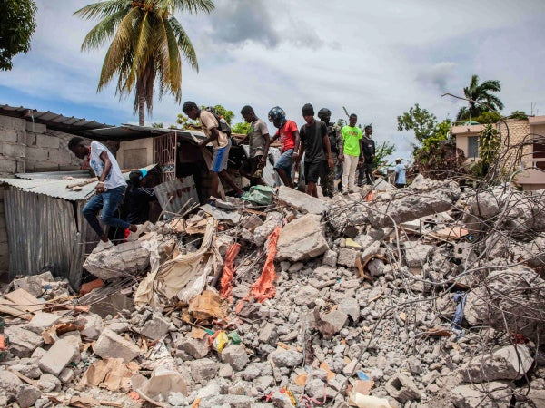 Haitian Death Toll Rises to 1,419 in Aftermath of 7.2 Magnitude Earthquake
