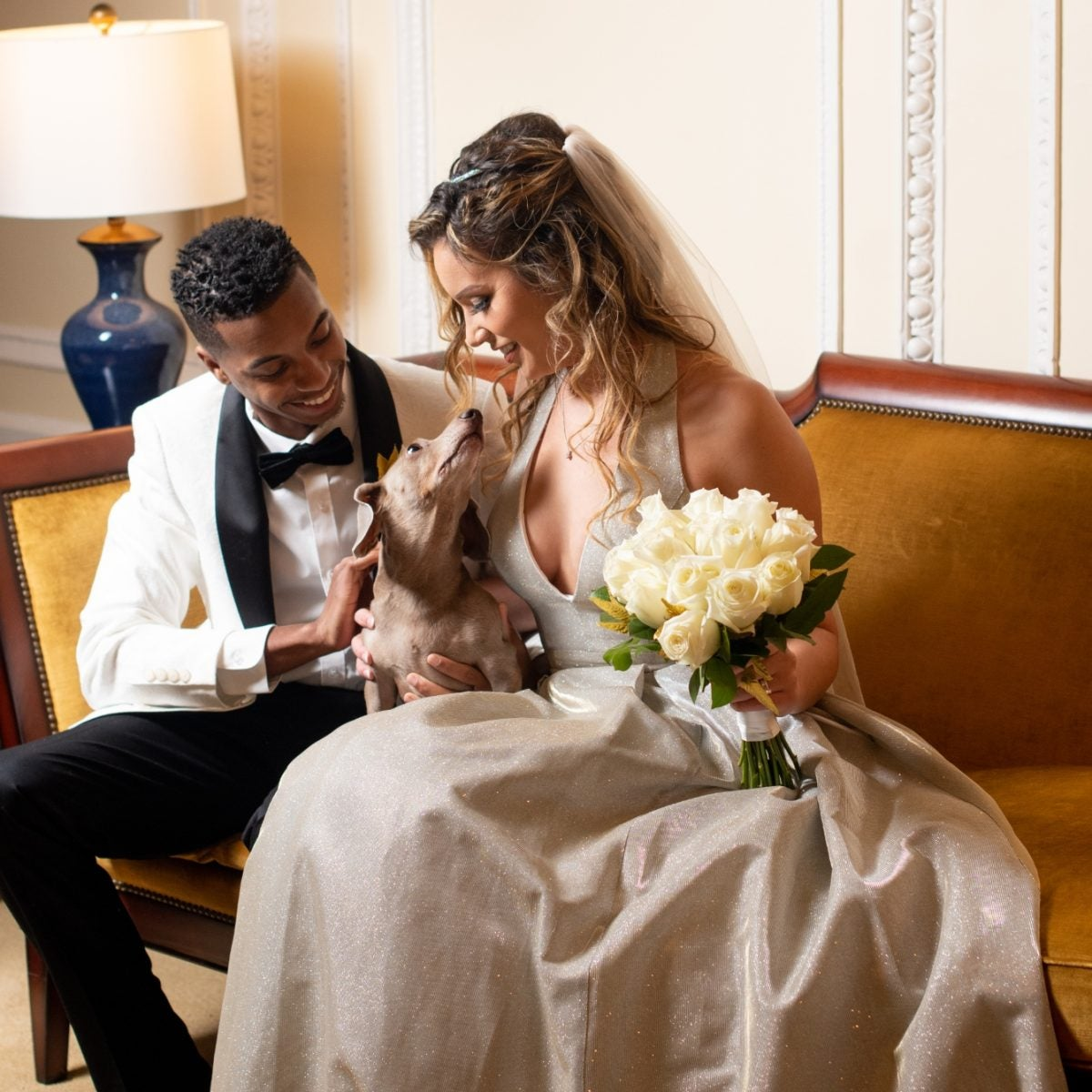 Bridal Bliss: Mariah And Corrinn's Micro Wedding Included Their Parents, Their Pastor, And Their Pet
