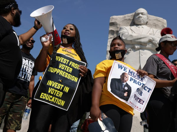 With Voting Rights on the Brink, Activists Set to March on Washington and Throughout the Country This Saturday