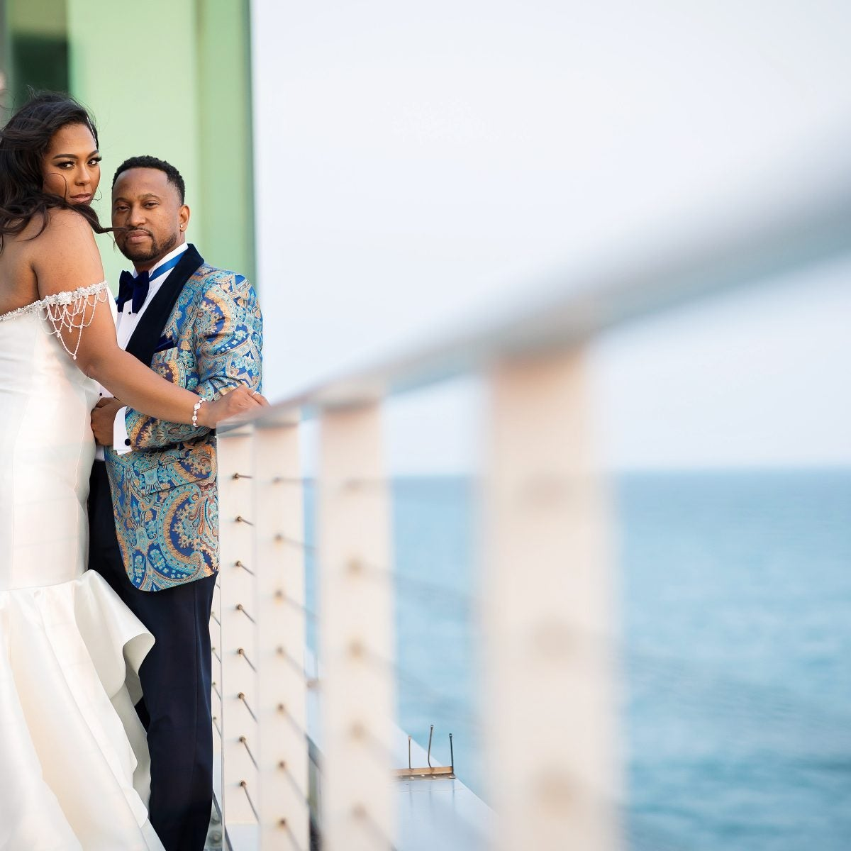 """Bridal Bliss: Candice And Evan's Oceanside Wedding In Atlantic City Was A """"Dream"""" Come True"""