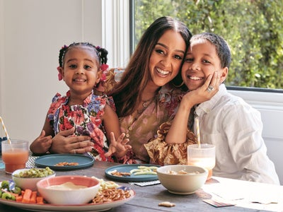 Tia Mowry On Having A Community Of Busy Moms to Lean On and How She's Learning To Do More With Less