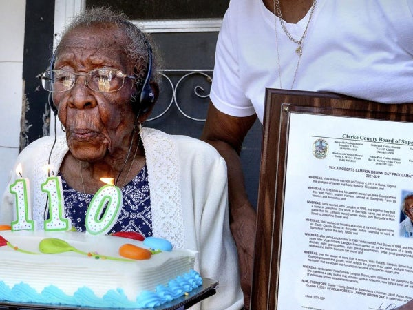 This Black Woman In Virginia Became Just The 6th Person Alive In America To Turn 110